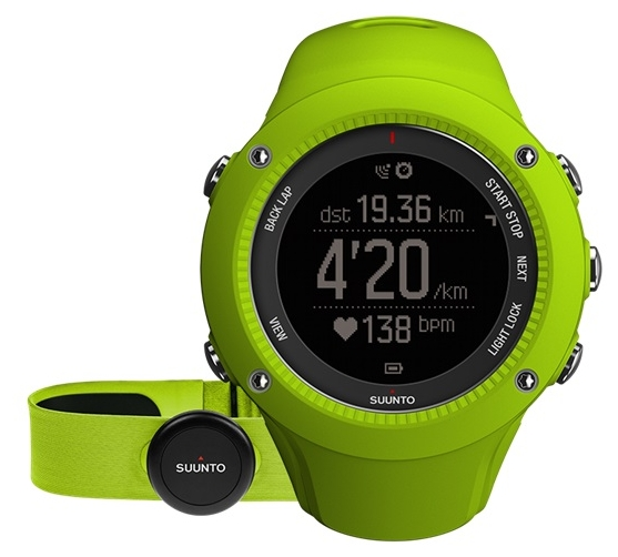 Умные часы Suunto Ambit3 Run (HR), лайм SS021261000