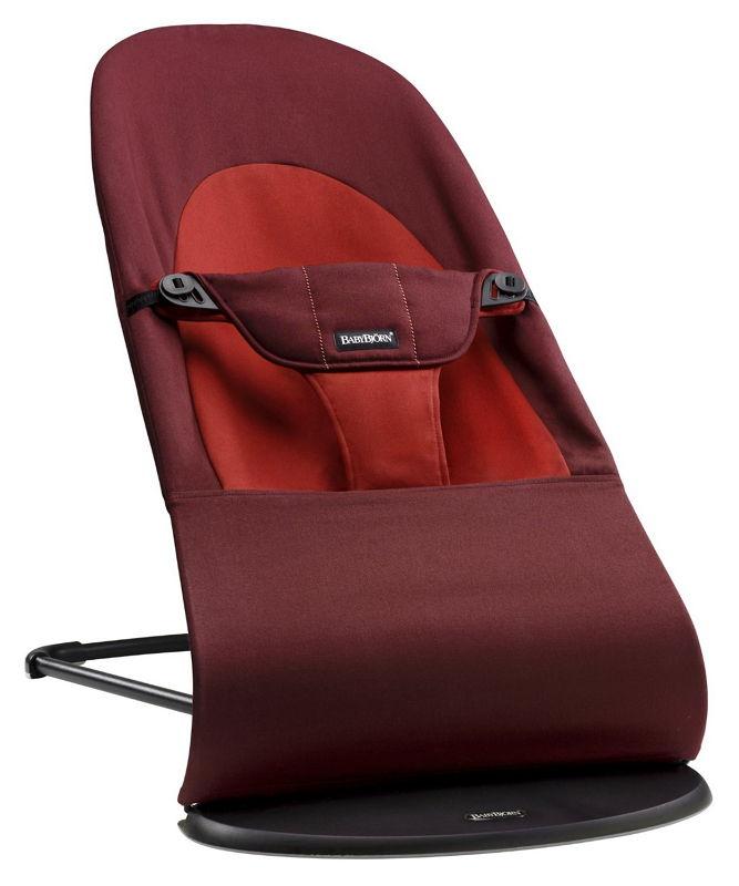 Детское кресло-шезлонг BabyBjorn Balance Soft, хлопок, Rust/Orange 0050.24