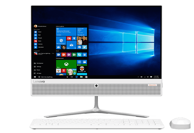 "Lenovo IdeaCentre 510-22ISH (Core i3 7100T/21.5""/1920x1080/сенс.экран/4Gb/1000Gb/DVD-RW/Intel HD Graphics/Wi-Fi/Bluetooth/Win 10 Home), белый"