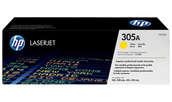 Картридж 305A (CE412A) Желтый (2600 стр., для HP LJ Pro 300 color MFP M375nw, 400 color MFP M475dn/dw, 400 color Printer M451dn/dw