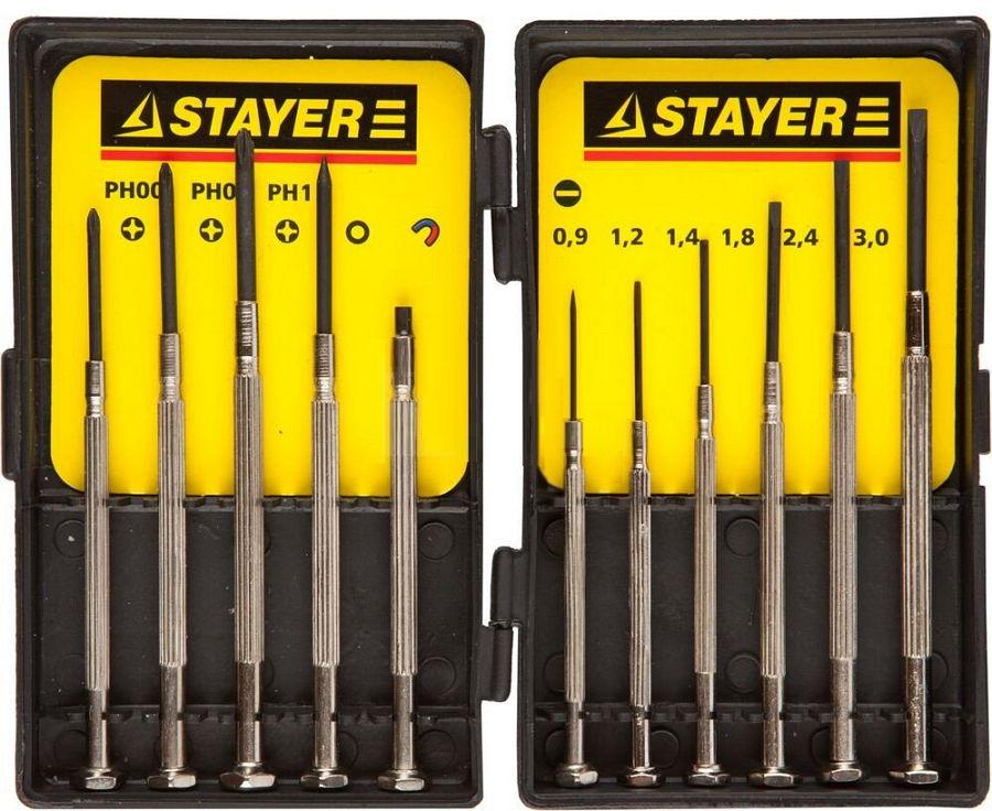 Набор инструментов STAYER 2560-H11_z01 (набор отверточный), 11 предметов