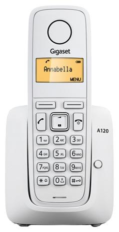 Радиотелефон Siemens Gigaset A120 Белый S30852-H2401-S302