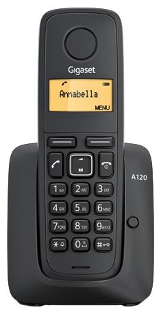 Радиотелефон Siemens Gigaset A120 черный S30852-H2401-S301