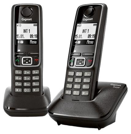 Радиотелефон DECT Gigaset A420 DUO Черный L36852-H2402-S301