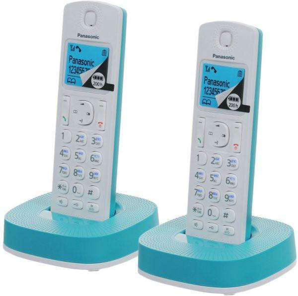 Радиотелефон DECT Panasonic KX-TGС312RUR Голубой/Белый KX-TGС312RUС