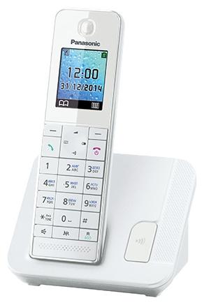 Радиотелефон DECT Panasonic KX-TGH210RUB Белый KX-TGH210RUW