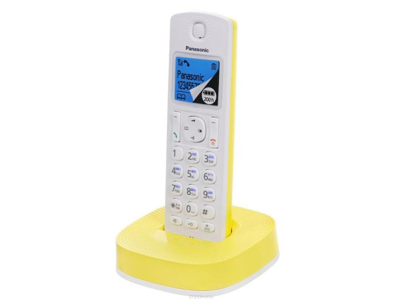 Радиотелефон DECT Panasonic KX-TGС310RUС Желтый/белый KX-TGC310RUY