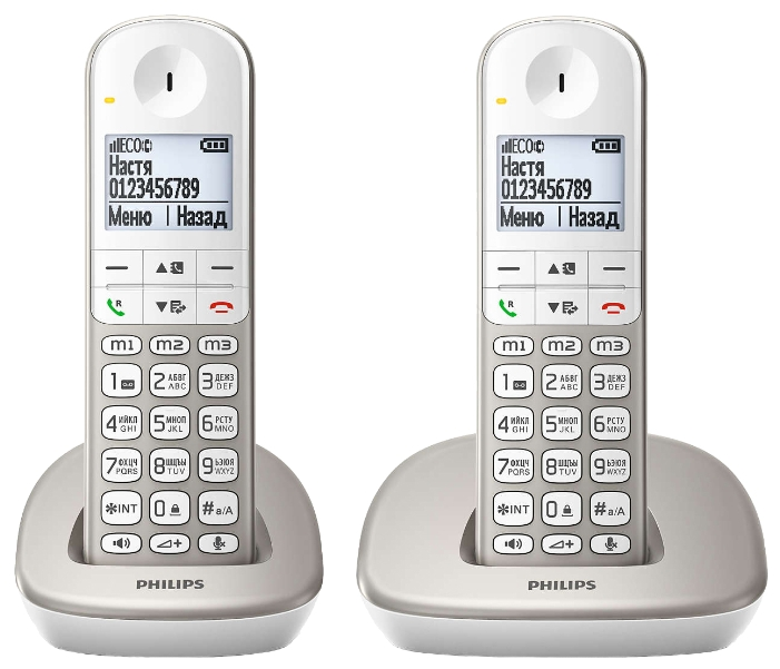 Радиотелефон DECT Philips XL4902S/51 Бежевый