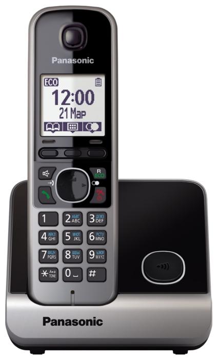 Радиотелефон DECT Panasonic KX-TG6711RUB Чёрный