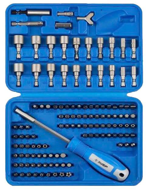 Набор инструментов Zubr ЗУБР 26096-H122 (биты и головки), 122 предмета