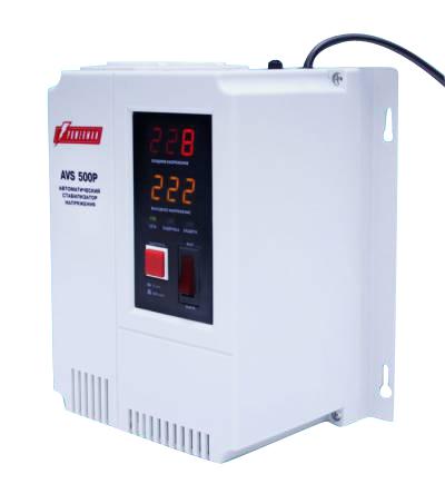 Стабилизатор напряжения PowerMan AVS-500P (500 ВА, 2 розетки, электромеханический) AVS 500P
