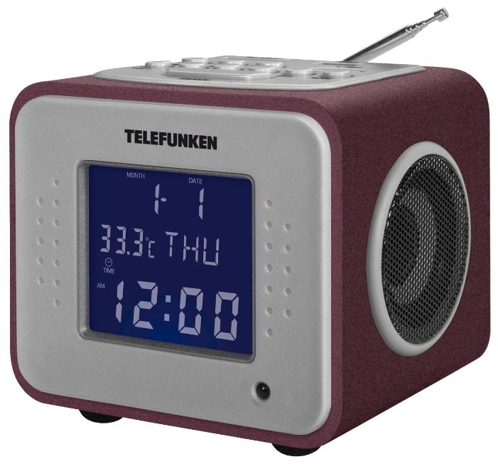 Радиоприемник TELEFUNKEN TF-1625U бургунди/пурпурный