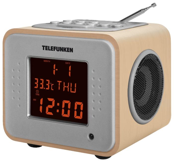 Радиоприемник TELEFUNKEN TF-1625U светлое - древесный / оранжевый