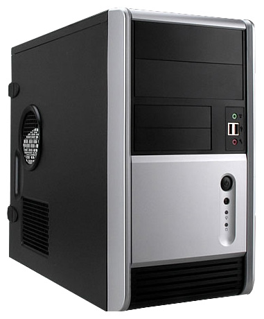 Корпус IN-WIN Inwin EMR006 450W черно-серебристый EMR006BS