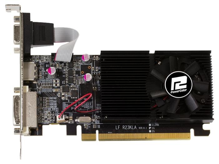 Видеокарта GeForce PowerColor Radeon R7 240 600Mhz PCI-E 3.0 2048Mb 1600Mhz 64 bit DVI HDMI HDCP (AXR7 240 2GBK3-HLE)
