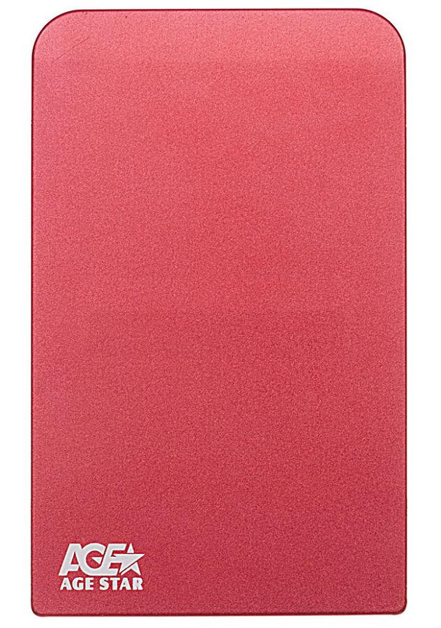 Корпус жесткого диска Agestar 3UB2O1 (2.5'', microUSB 3.0), красный 3UB201 red