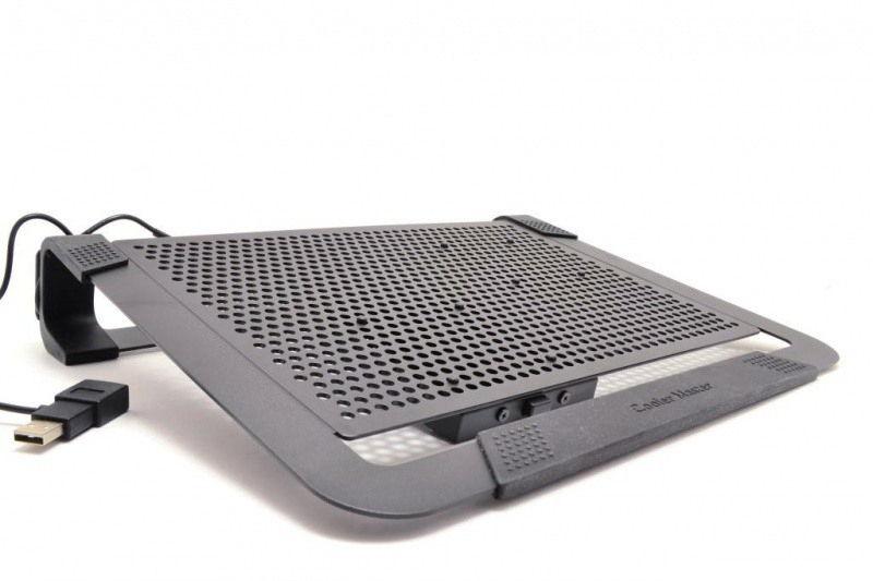 """Подставка для ноутбука Cooler-Master Cooler Master NotePal U2 Plus (охлаждающая, 17""""), чёрная R9-NBC-U2PK-GP"""