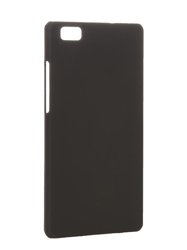 Накладка для Huawei P8 Lite skinBOX, серия 4People, защитная пленка в комплекте, цвет Черный