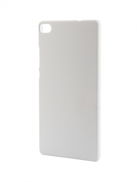 Накладка для Huawei P8 skinBOX, серия 4People, защитная пленка в комплекте, цвет Белый