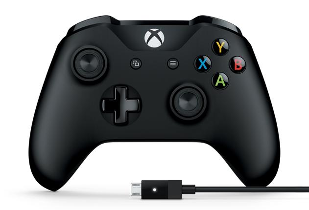 MICROSOFT Xbox Controller + кабель для Windows [4N6-00002]