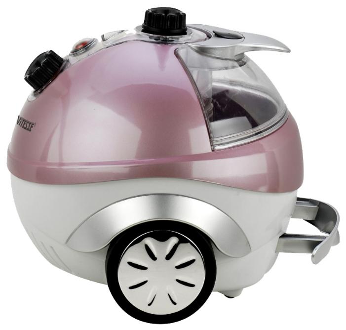 Пароочиститель-отпариватель Vitesse VS-694 розово-серый