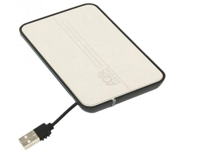 Корпус для жесткого диска Agestar SUB2A8 (USB 2.0, 2.5'', SATA), чёрно-серебристый SUB2A8-SILVER