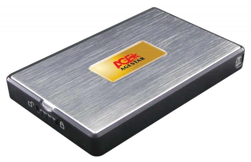 "Корпус жесткого диска Agestar SUB2A11 (USB2.0, 2.5"", SATA), чёрно-серебристый"