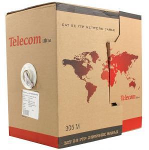 Кабель (шнур) TELECOM Ultra FTP 5e level (305m) TFS44050E