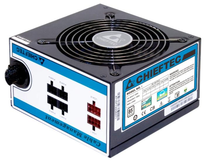 Блок питания Chieftec 550W CTG-550C (ATX v2.3, APFC, Fan 12 см, съёмные кабели)