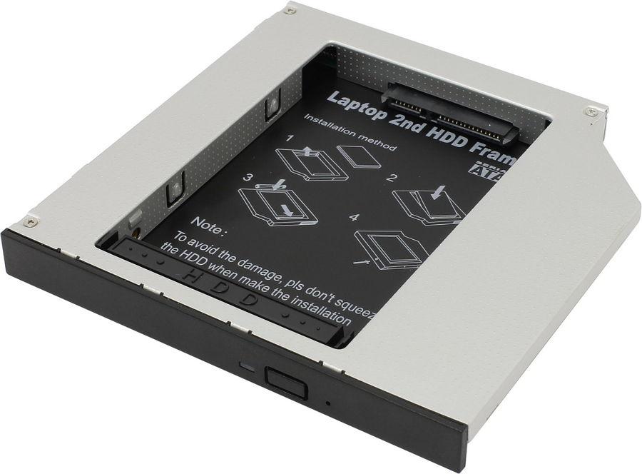 Корпус жесткого диска Espada SS12 (2.5''HDD/SATA - SlimDVD/miniSATA)
