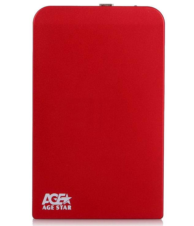 Корпус жесткого диска Agestar SUB2O1 (2.5'', miniUSB 2.0), красный SUB201 red