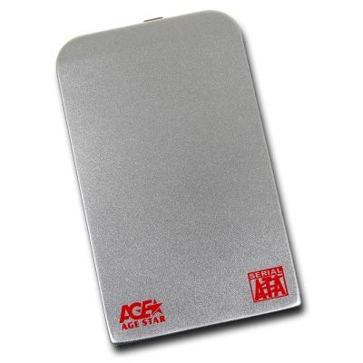 Корпус жесткого диска Agestar SUB2O1 (2.5'', miniUSB 2.0), серебристый SUB201 silver
