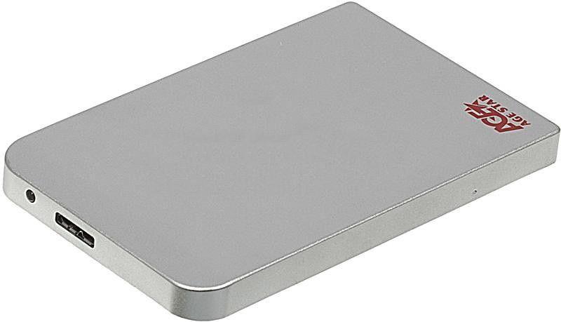 Корпус жесткого диска Agestar 3UB2O1 (2.5'', microUSB 3.0), серебристый 3UB201 silver